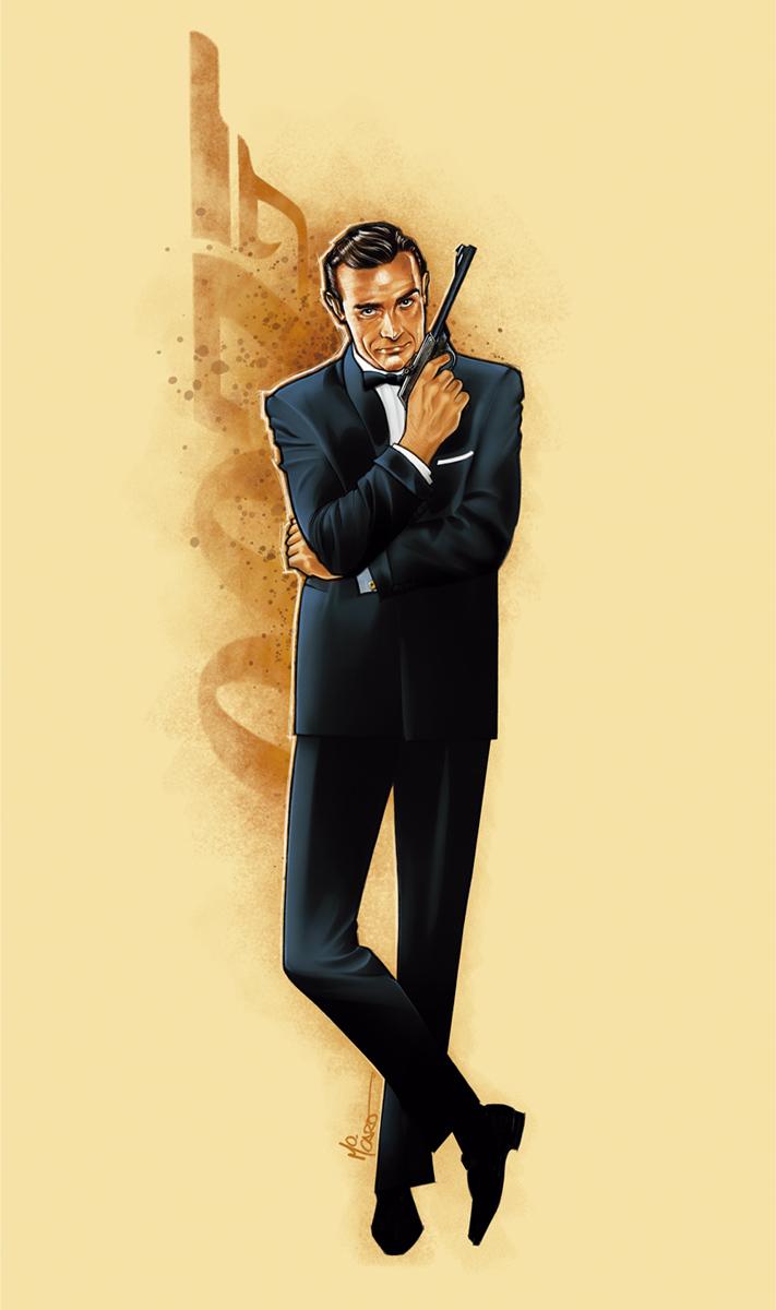 illustrated 007 the art of james bond october 2012. Black Bedroom Furniture Sets. Home Design Ideas