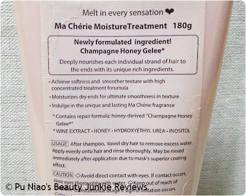 Ma Cherie Moisture Treatment Champagne Honey Gelee
