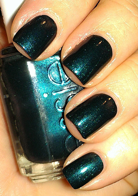 blackened teal shimmer