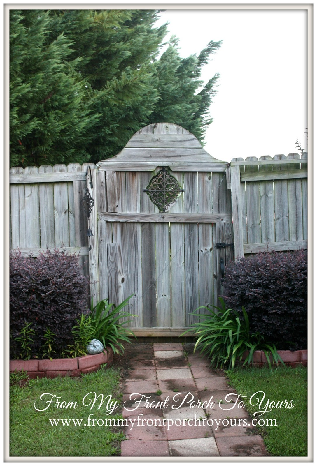 From My FRont Porch To Yours- Custom Garden Gate