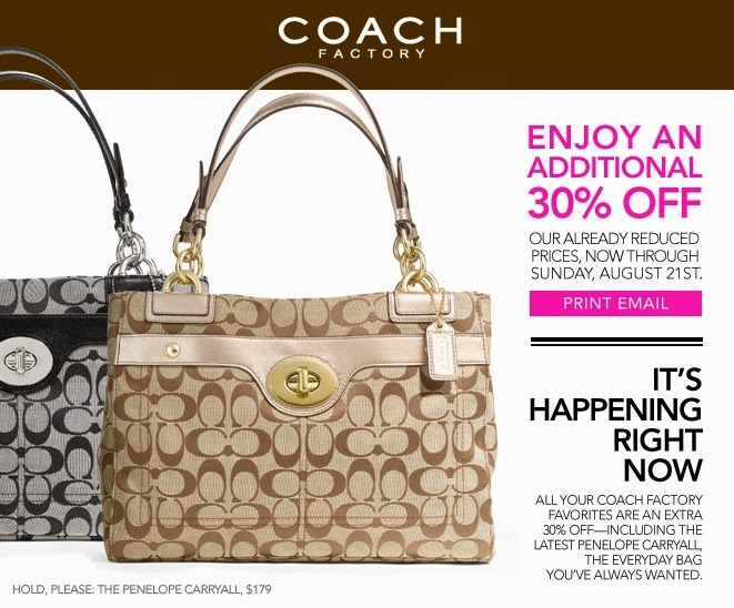 Coach coupons discounts