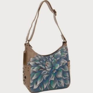Leather and Hand Painted Anuschka  Hobo