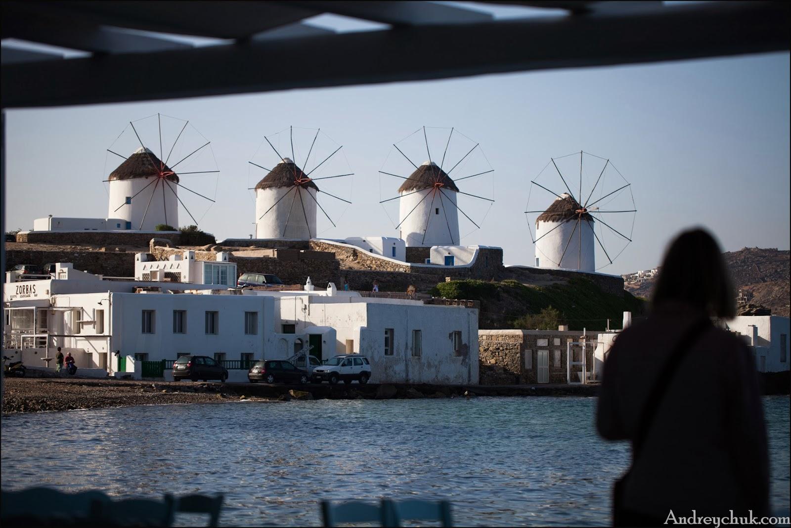 о. Миконос, мельницы