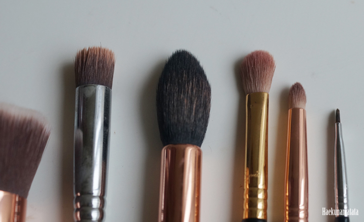 Sigma Brushes: P80 Precision Flat, F35 Tapered Highlighter Brush, E25 Blending Brush, E30 Pencil Brush, E06 Winged Liner Brush