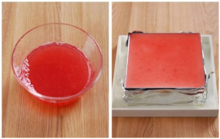Cách làm bánh kem-Tạo lớp thạch