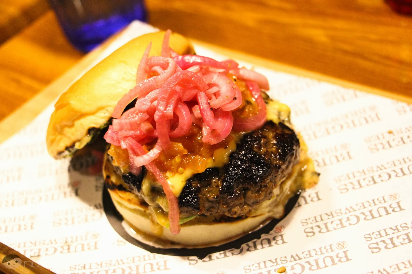 The Red-Haired Relish Burger of Burgers and Brewskies
