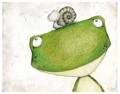 frog, snail, stacey yacula, enesco, joyful garden