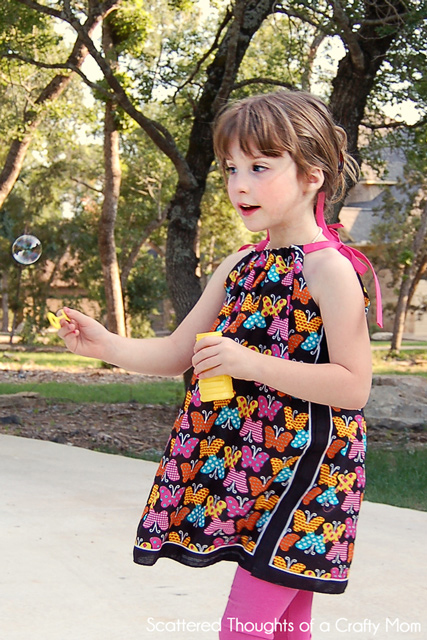 9745197df736 How to make a Pillowcase Dress without Sewing - Scattered Thoughts ...