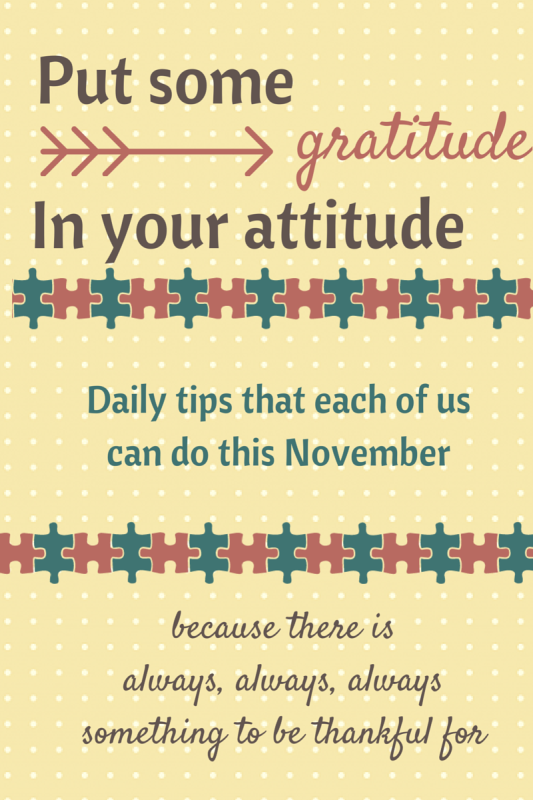 Gratitude Challenge by A Day in our Shoes
