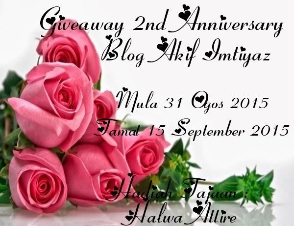 GIVEAWAY 2nd ANNIVERSARY BLOG AKIF IMTIYAZ