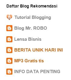 cara membuat widget blogroll pada blog