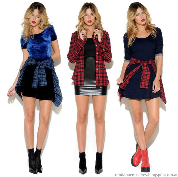 Moda otoño invierno 2014 colección Cenizas indumentaria femenina de estilo casual urbano..
