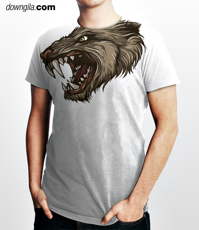 Tshirt Downgila depan design gamep01nt azwan mat datar
