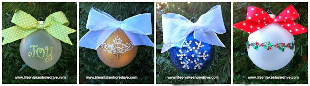 diy Christmas ornaments, scrapbooking appliques   Life on Lakeshore Drive