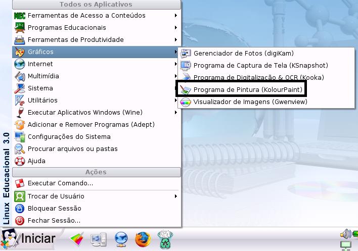 Programa De Pintura Kolourpaint Linux Educacional