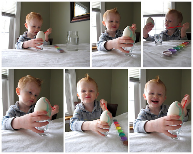 Painting Eggs with Porter
