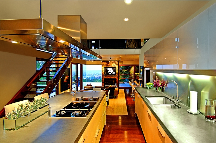 Kitchen in Calvin Harris's new celebrity house