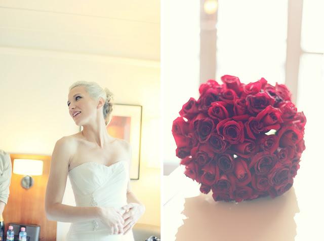 melbourne wedding red roses