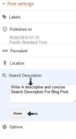 write search description