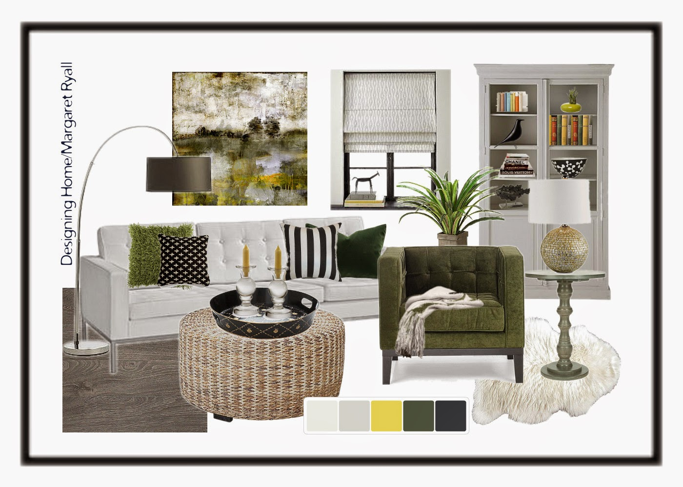 colour trends 2015, olive green, Scandinavian , Designing Home style board