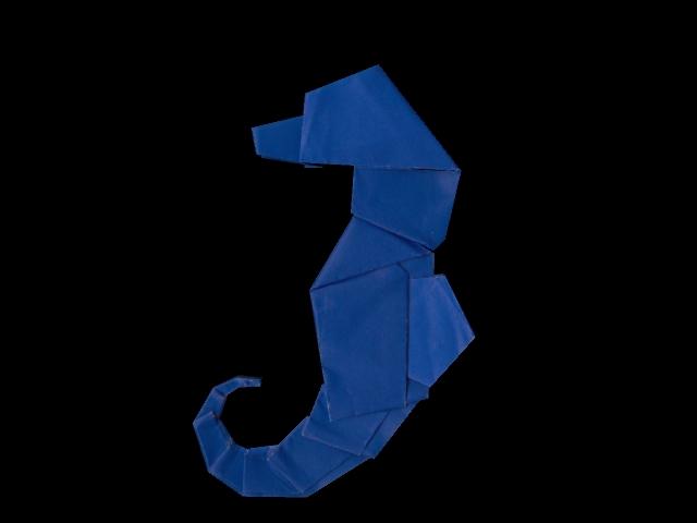 katricks eyes texturing an origami seahorse