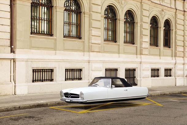 Air Drive - série fotográfica de Renaud Marion - Mercedes-Benz W113 S