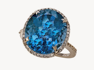 Genuine Blue Topaz Ring