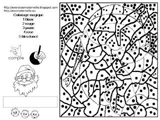 Maternelle coloriage magique silence p re no l - Coloriage magique maternelle noel ...