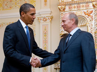 Vladimir Putin and Barack Obama