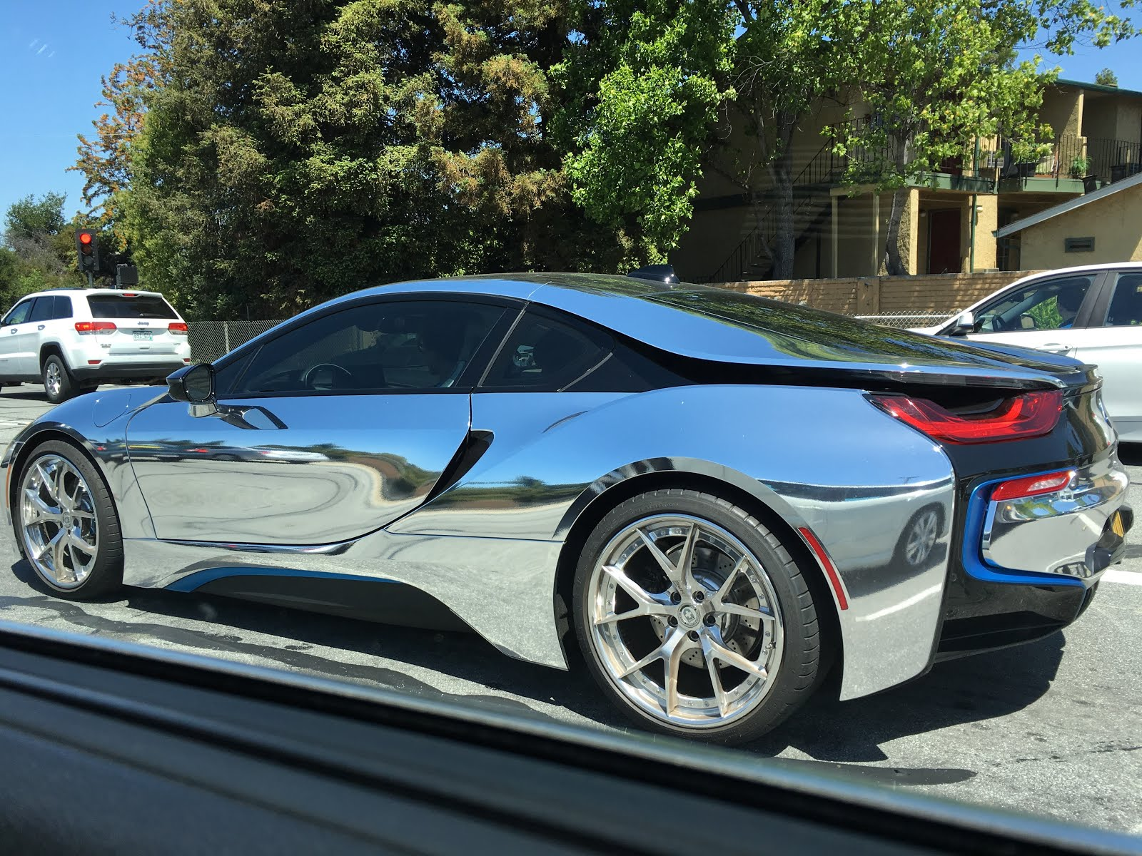 M E M O Chrome Mirror Filmed Bmw I8