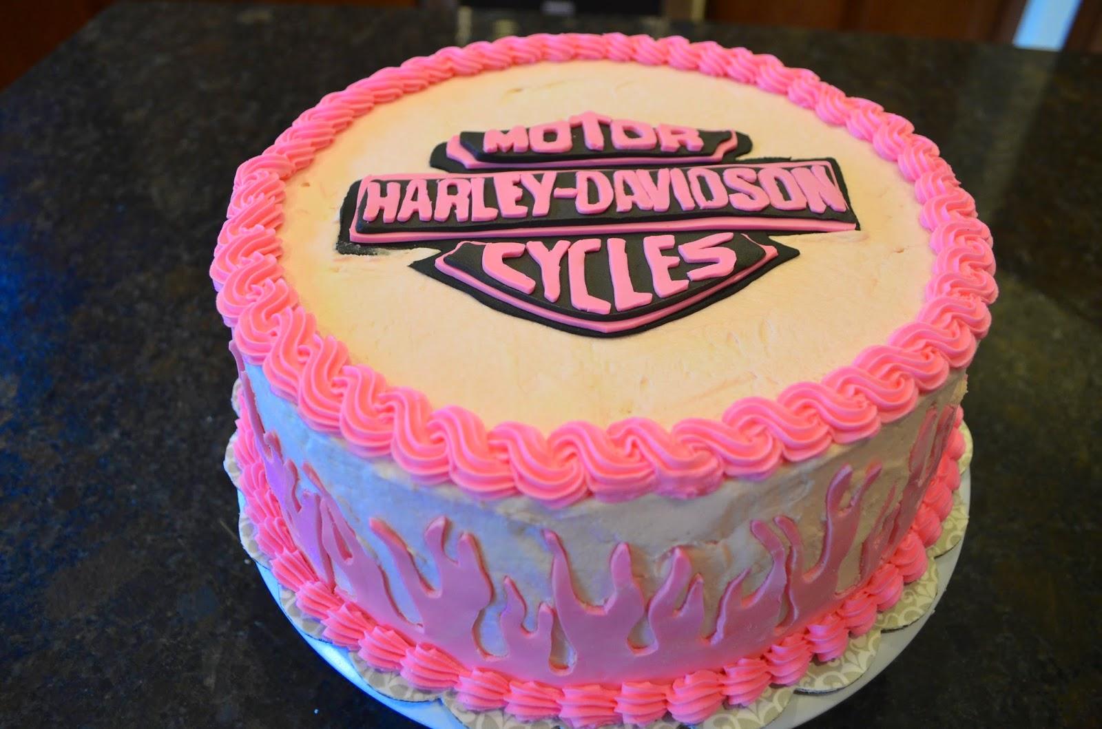 Cake Mama Harley Chick Cake
