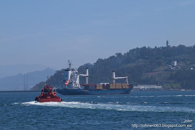 florentia, container ship, puerto de Vigo