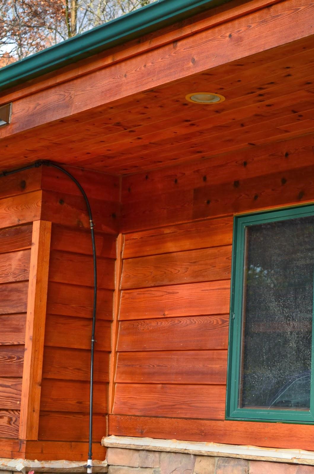Stained House Siding : Cedar siding stain technique november