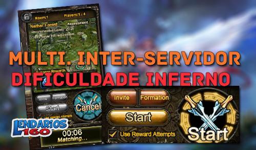 Mapa Multiplayer Inter-Servidor e Dificuldade Inferno - Legend Online