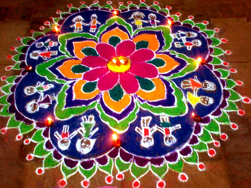 Follow by email for Floor rangoli design