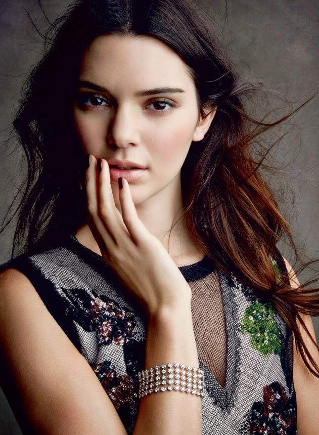 Kendall Jenner poses in Estee Lauder make up looks for Vogue US December 2014
