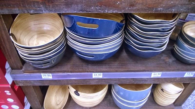 Bowls e fruteiras de bambu