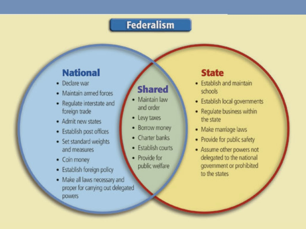 government chapter federalism flash cards