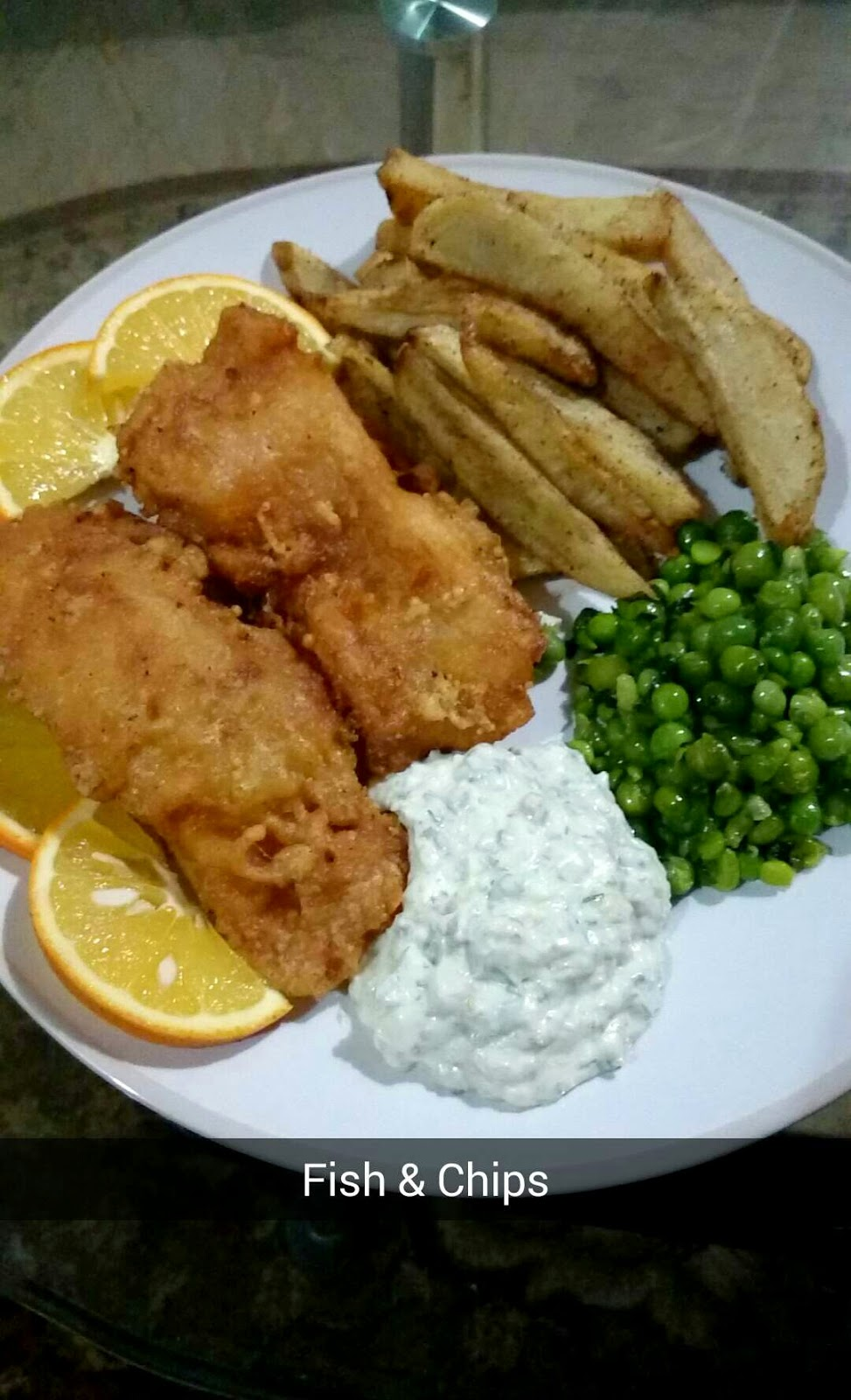 chef shamsher fish chips w mint peas and chunky tartar sauce. Black Bedroom Furniture Sets. Home Design Ideas