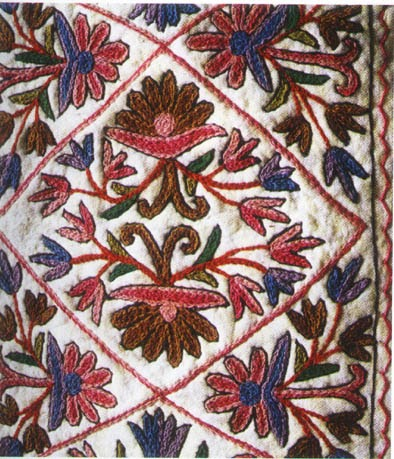 history of kashmiri embroidery Kashmiri embroidery is known for the skilled execution of a single stitch, which is often called the kashmiri stitch and which may comprise the chain stitch.