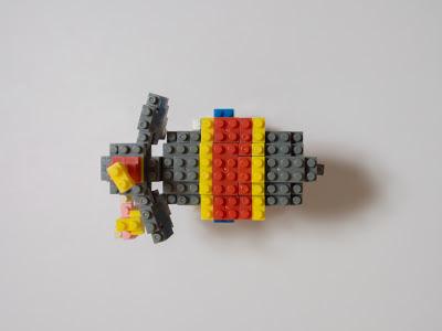 ナノブロックで作ったサーカスのビッグスター