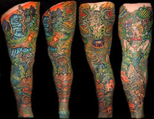 Racing Sleeve Tattoos Full Sleeve Tattoos Ideas