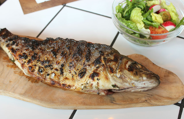 A picture of OAKS Restaurant Nottingham Sea Bass, Lemon, Sage and Garlic