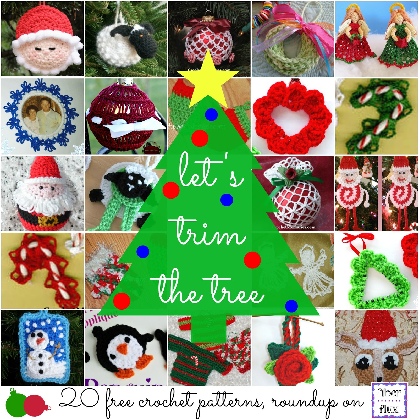 Fiber flux lets trim the tree 20 free crochet ornament patterns 20 free crochet ornament patterns i love ornament projects they are fun to make use up yarn leftovers and add a lovely handmade touch to your tree bankloansurffo Choice Image