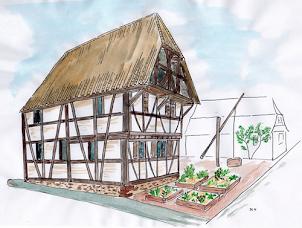 Participez à la reconstruction dans son état d'origine d'une maison en colombage du Moyen Age