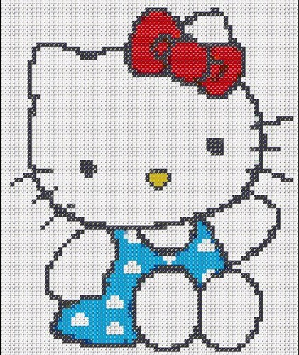 Patrones de punto de cruz Hello Kitty - Imagui