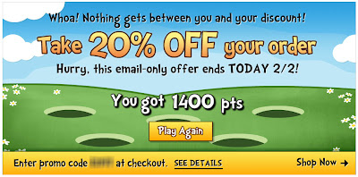 Landing page for Feb. 2, 2012 Fingerhut email