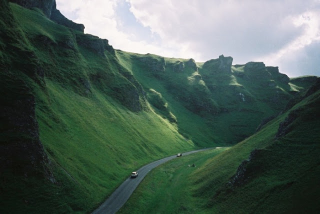Green Valley, Peak District in England