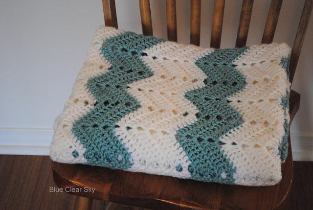 Rustic Maple: Chevron Crocheted Afghan
