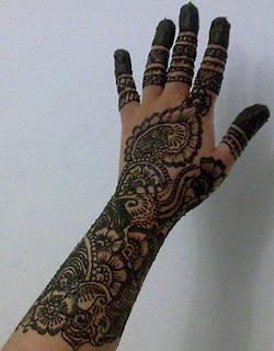 best mehndi design full filling handi mehndi